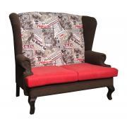 Каминный диван с ушами Лондон 2
