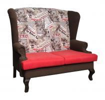Каминный диван с ушами Лондон 2 | РАСПРОДАЖА